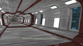 Futuristic hall alien spaceship. 3d render Futuristic hall alien spaceship royalty free stock images