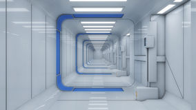 Futuristic hall alien spaceship Royalty Free Stock Image