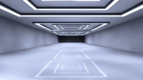 Futuristic hall architecture Stock Images