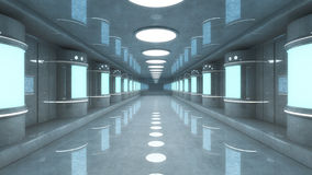Futuristic hall architecture Royalty Free Stock Photography