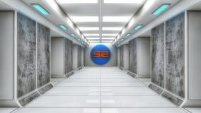 Futuristic hall architecture Stock Photography