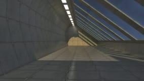 Futuristic hall architecture Stock Images