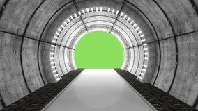 Futuristic hall architecture Stock Image