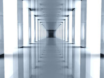 Futuristic Hallway Royalty Free Stock Image