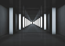 Futuristic Hallway/corridor to another... Royalty Free Stock Image