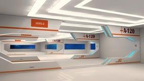 Futuristic hallway. Interior concept design Stock Photo