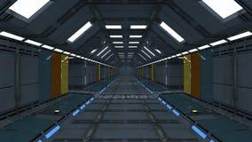 Futuristic hallway. Interior concept design Royalty Free Stock Photography