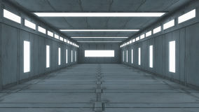 Futuristic hallway. Interior concept design Royalty Free Stock Image