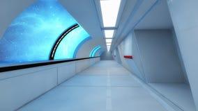 Futuristic hallway. Interior concept design Stock Photography