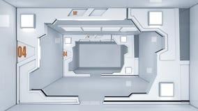 Futuristic hallway. Interior concept design Stock Images