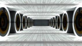 Futuristic hallway. Interior concept design Royalty Free Stock Photo