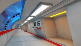 Futuristic hallway. Interior concept design Royalty Free Stock Photos