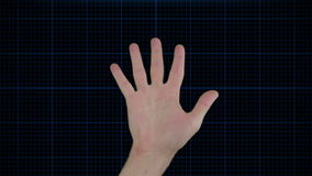 Futuristic hand scan technology stock video