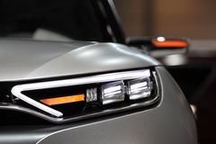 Futuristic head lamp of SsangYong XLV Concept Royalty Free Stock Photography