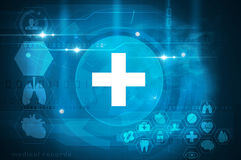Futuristic healthcare interface Royalty Free Stock Images