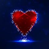Futuristic heart Royalty Free Stock Photo