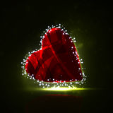 Futuristic heart Royalty Free Stock Images