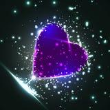 Futuristic heart Royalty Free Stock Photos
