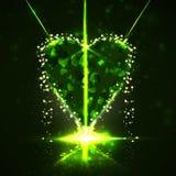 Futuristic heart Stock Photography