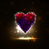 Futuristic heart, abstract backgroun Royalty Free Stock Photography