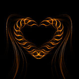 Futuristic heart background light lines, abstract. Wave. Vector Royalty Free Stock Images