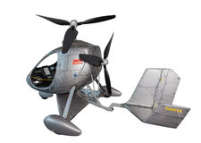 Futuristic helicopter Stock Photos