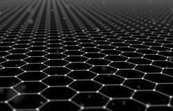 Futuristic Hexagon Pattern Abstract Background. 3d Render Illustration. Space surface. Dark sci-fi backdrop. Dots and. Lines connections. Science and technology vector illustration
