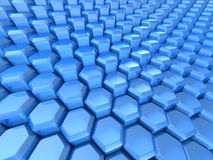 Futuristic Hexagon Pattern Blue Background Royalty Free Stock Photos
