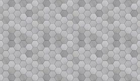 Futuristic Hexagonal Aluminum Tiled Seamless Texture Stock Images