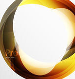 Futuristic hi-tech glass wave abstract background. Color curvy line with glossy effect Stock Photo