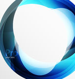 Futuristic hi-tech glass wave abstract background. Color curvy line with glossy effect Stock Photos