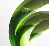 Futuristic hi-tech glass wave abstract background. Color curvy line with glossy effect Stock Images