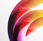 Futuristic hi-tech glass wave abstract background. Color curvy line with glossy effect Stock Image