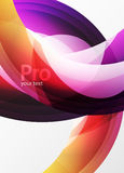 Futuristic hi-tech glass wave abstract background. Color curvy line with glossy effect Royalty Free Stock Photos