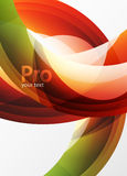 Futuristic hi-tech glass wave abstract background. Color curvy line with glossy effect Stock Photography
