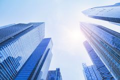 Free Futuristic High Tech Background, Business Office Modern Buildings Stock Photos - 113657393