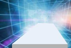 Futuristic High tech Digitial 3D Enclosed Studio Backdrop Concep Stock Images