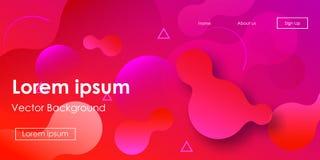 Futuristic Horizontal Vector Gradient Neon Background. Iridescent Geometric Simple Landing Page Design. Glitch Liquid Color Abstract Neon Presentation. Glam royalty free illustration