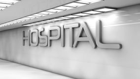 Futuristic hospital Stock Photo