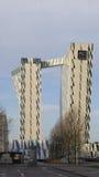 Futuristic hotel building Stock Photos