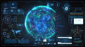 Futuristic HUD Background vector illustration