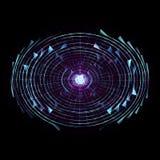 Futuristic HUD On Black Background. Alien Technology Co. Ncept vector illustration