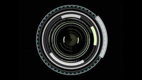 Futuristic HUD cursor stock footage