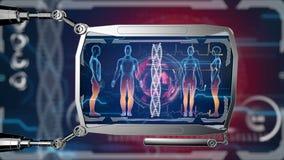 Futuristic HUD digital medical monitor. Medical concept future. HUD background
