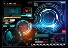 Futuristic HUD display royalty free illustration