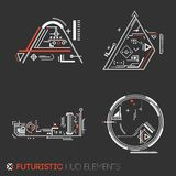 Futuristic HUD elements. Abstract technological background. Vector illustration Stock Photo