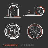 Futuristic HUD elements Royalty Free Stock Photography