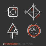 Futuristic HUD elements. Abstract technological background. Vector illustration Stock Photography
