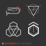 Futuristic HUD elements. Abstract technological background. Vector illustration Stock Images