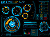 Futuristic HUD elements set. Stock Photos